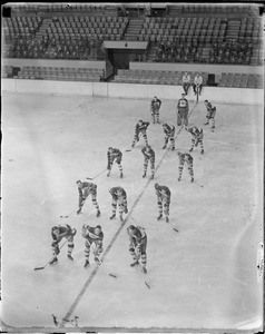 1930-31 Bruins information on the Boston Garden ice