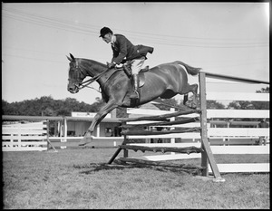Hugh Bancroft, Jr. jumps with Pastime at Brockton Fair, (Sleeve marked 6-10 Wed')