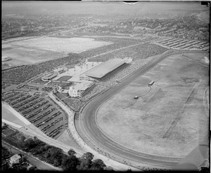 Airplane view of Suffolk Downs