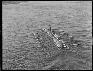 Harvard crew out on river in Leviathan