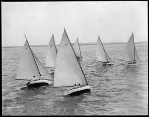 Cat boat class at South Boston Yacht Club