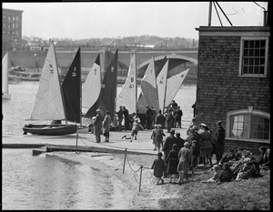 Dinghies race on the Charles during International Races