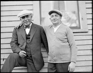 Ben Pine and Angus Walters, Fishermen skippers of the Thebaud and Bluenose, in Gloucester
