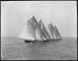Fishing schooner Elsie and Gertrude L. Thebaud off Gloucester