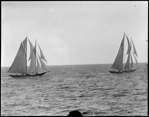 The Columbia and Henry Ford in Fisherman's race