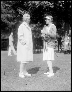 Eleonora Sears and Helen Wills at Essex Country Club, Hamilton, MA