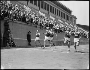 100 yard dash, Harvard vs. Yale, at Harvard Stadium