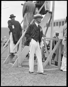 Dr. W. Kendall of bicycle and track fame, at Harvard-Yale track meet