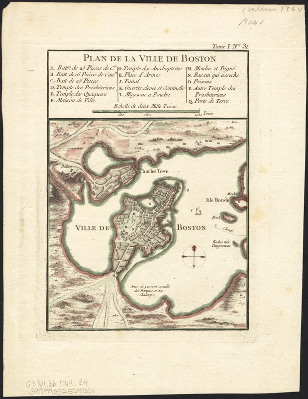 Plan de la ville de Boston