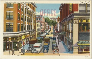 Fulton Street, looking east, Troy, N. Y.