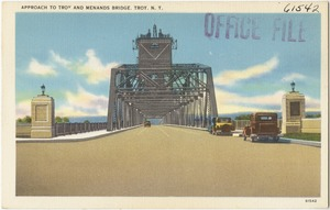 Approach to Troy and Menands Bridge, Troy, N. Y.