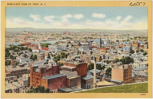 Birds-eye view of Troy, N. Y.