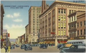 Genesee Street, looking north, Utica, New York