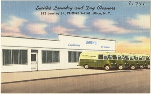 Smith's Laundry and Dry Cleaners, 622 Lansing St., Phone 2-6141, Utica, N. Y.