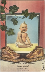 Your baby's shoes bronzed
