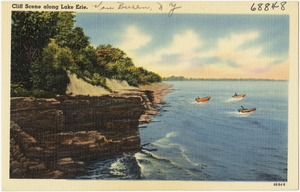 Cliff scene along Lake Erie, Van Buren, N. Y.