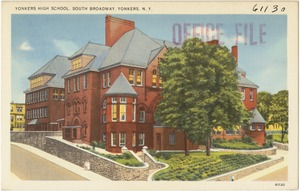 Yonkers High School, South Broadway, Yonkers, N. Y.