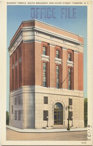 Masonic Temple, South Broadway and Guion Street, Yonkers, N. Y.