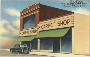"""The Carpet Shop Inc."" Telephone: YOnkers 3-3905"
