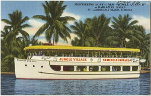 "Sightseeing boat- new ""Jungle Queen II"" at Bahia-Mar Docks, Ft. Lauderdale Beach, Florida"