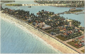 Air view of beach front, Fort Lauderdale, Florida