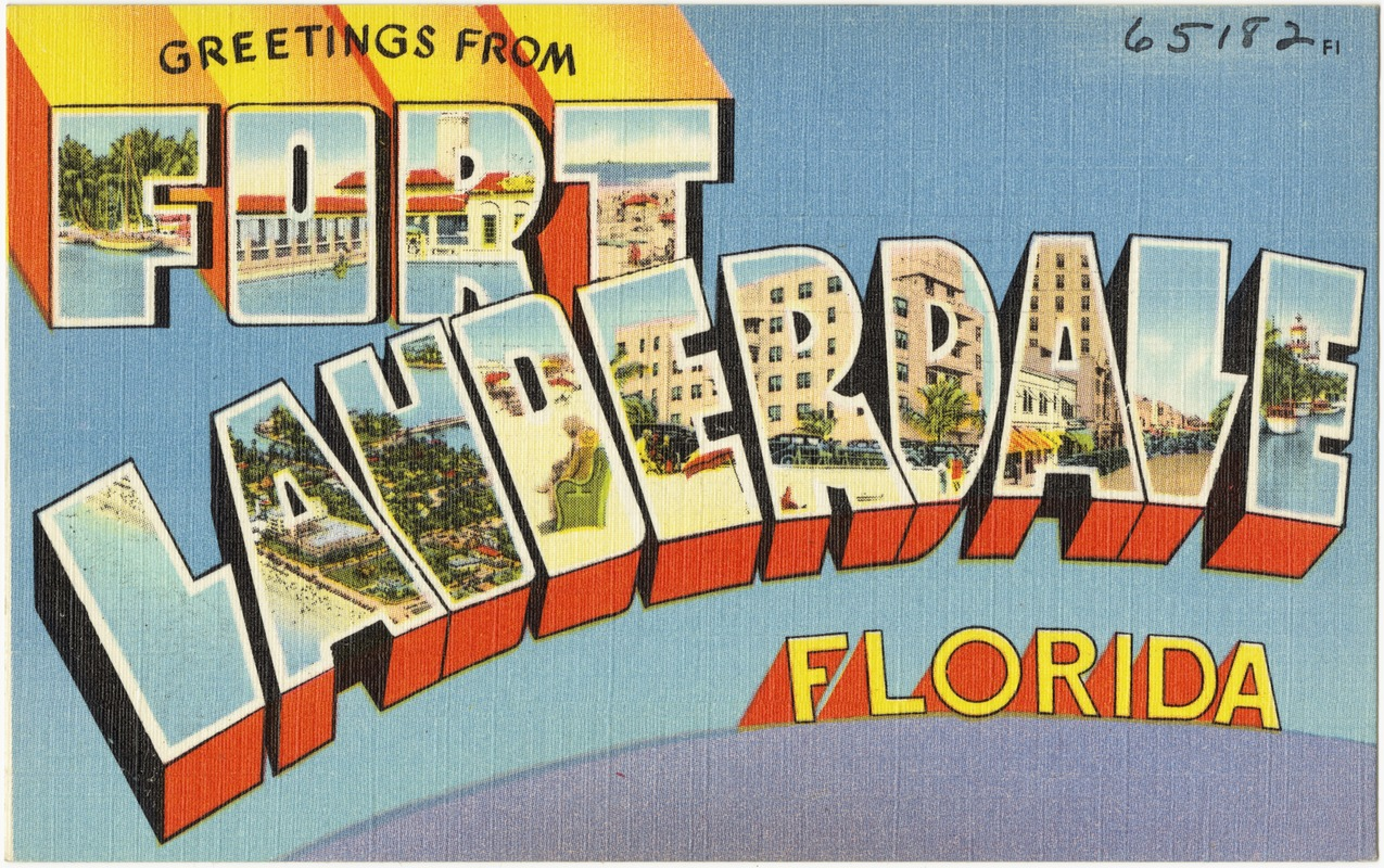 Greetings From Fort Lauderdale Florida Digital Commonwealth