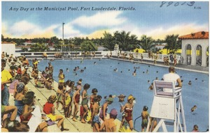 Any day at the municipal pool. Fort Lauderdale, Florida