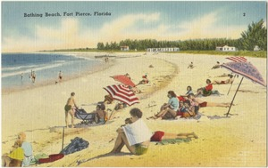 Bathing beach, Fort Pierce, Florida