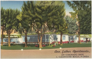Ann Esther Apartments, 229 Coronado Drive, S. Clearwater Beach, Florida