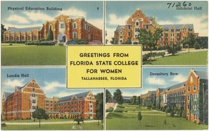 Greetings from Florida State College for Women, Tallahassee, Florida
