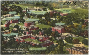 Florida A and M College from the air, Tallahassee, Florida