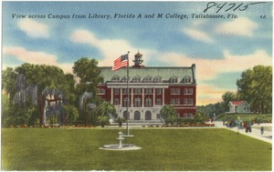 View across campus from library, Florida A and M College, Tallahassee, Fla.