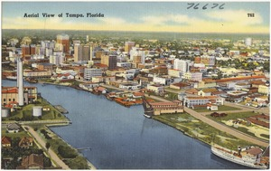Aerial view of Tampa, Florida