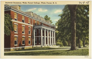 Bostwick Dormitory, Wake Forest College, Wake Forest, N. C.