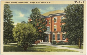 Alumni Building, Wake Forest College, Wake Forest, N. C.