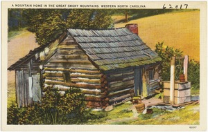 A mountain home in the Great Smoky Mountains. Western North Carolina