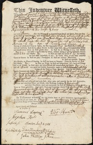 Document of indenture: Servant: Field [Feild], Jeremiah. Master: Hunt, Alexander. Town of Master: Boston