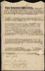 Document of indenture: Servant: Stamerin, Mary. Master: Brooks, Joshua Jr. Town of Master: Concord