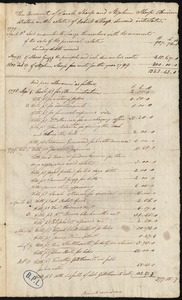 Account of Sarah and Stephen Sharp, administrator on the estate of Robert Sharp