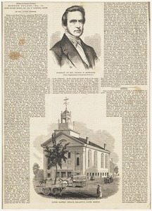 Portrait of Rev. George W. Bosworth ; South Baptist Church, Broadway, South Boston