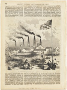 View of the American Flint Glass Works, South Boston, from the harbor