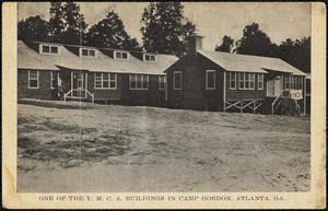 One of the Y.M.C.A. buildings in Camp Gordon, Atlanta, Ga.