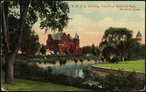 Y.M.C.A. building, view from Bushnell Park, Hartford, Conn.