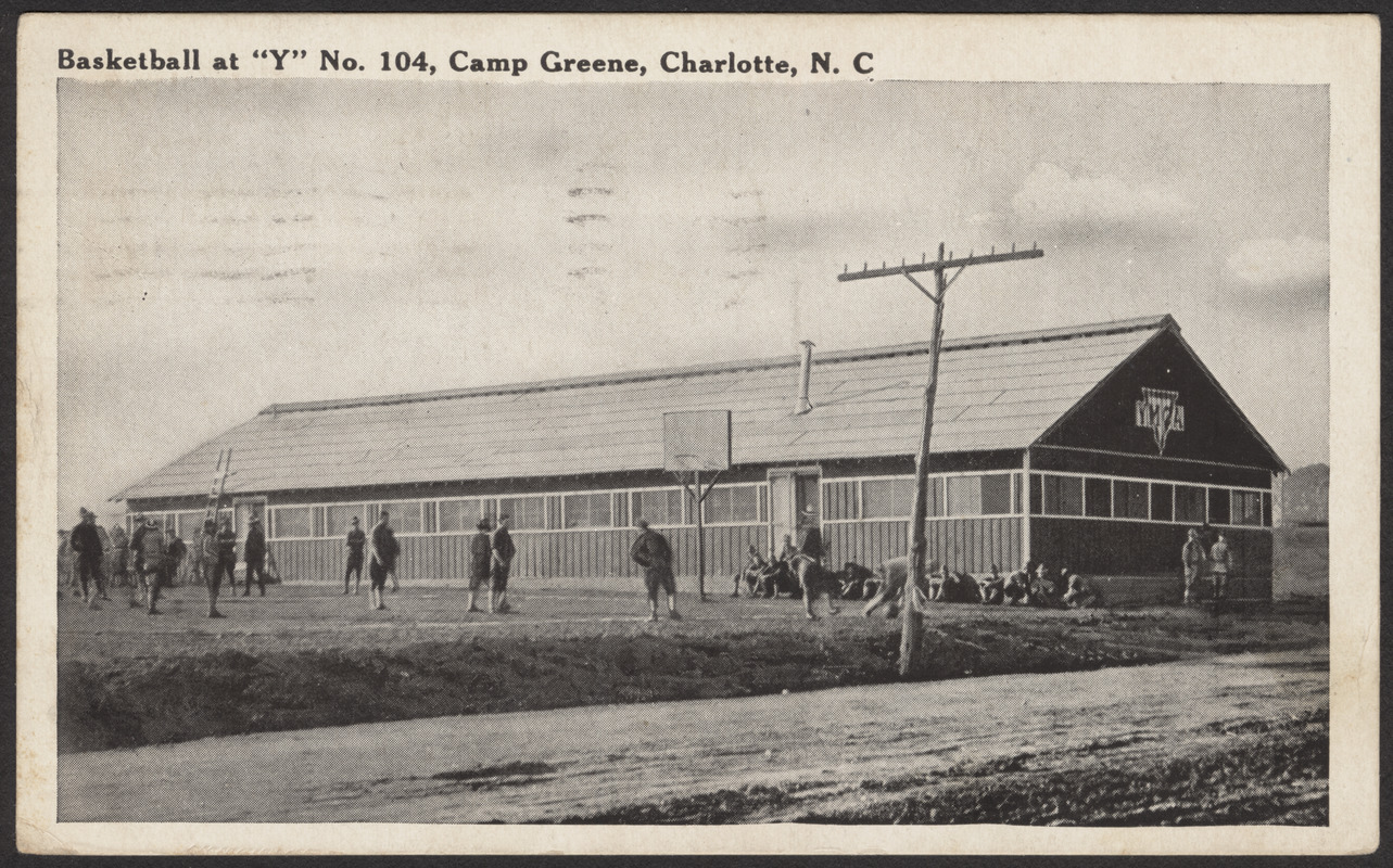 "Basketball at ""Y"" No. 104, Camp Greene, Charlotte, N.C. - Digital  Commonwealth"
