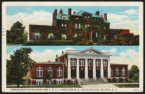 Administration building and Y.M.C.A. building, N.C. State College, Raleigh, N.C.