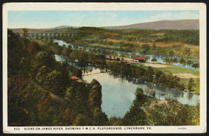 Scene on James River, showing Y.M.C.A. playgrounds, Lynchburg, Va.