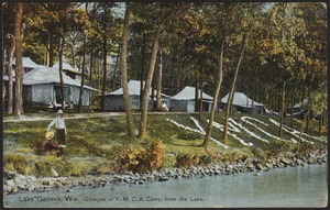 Lake Geneva, Wis. Glimpse of Y.M.C.A. Camp, from the Lake