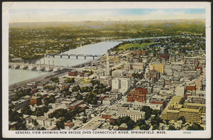General view showing new bridge over Connecticut River, Springfield, Mass.