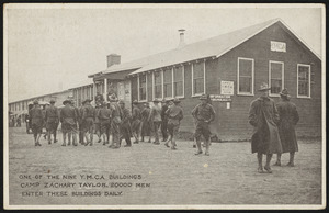 One of the nine Y.M.C.A. buildings Camp Zachary Taylor. 20000 men enter these buildings daily