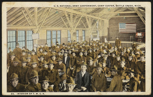 U. S. National Army Cantonment, Camp Custer, Battle Creek, Mich. Interior of Y.M.C.A.